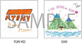 タワーレコード:メンバー手書きステッカー(YUN HO&SANの2枚セット)