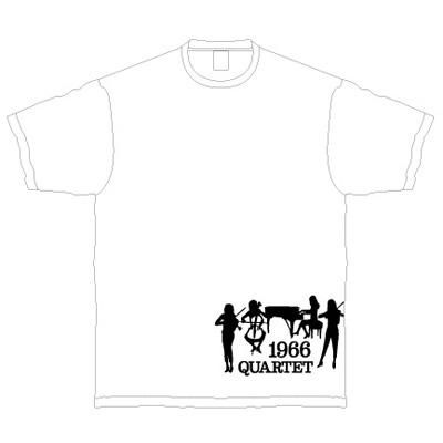 1966 QUARTET オリジナルTシャツ・白(M)