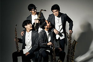 The Rev Saxophone Quartet HMV限定絵柄ポストカード